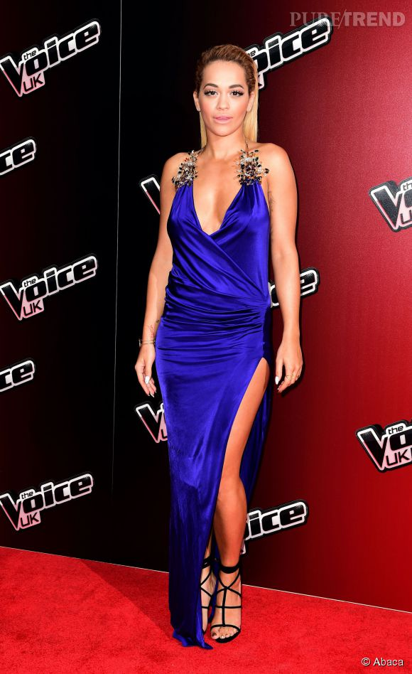 """Rita Ora sort le grand jeu en photocall pour la nouvelle saisons de """"The Voice"""" édition anglaise le 5 janvier 2015 à Londres."""