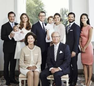 La famille royale de Suède au grand complet : superbe portrait officiel