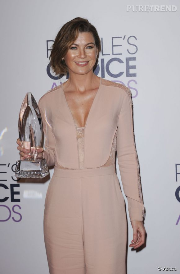 Ellen Pompeo, actrice de série dramatique préférée aux People's Choice Awards 2015.