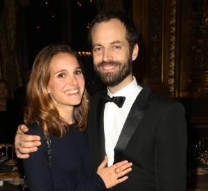 Natalie Portman et Benjamin Millepied, ce lundi 12 janvier 2015 à l'Opéra Garnier aux quarante ans du Conseil Pasteur-Weizmann.