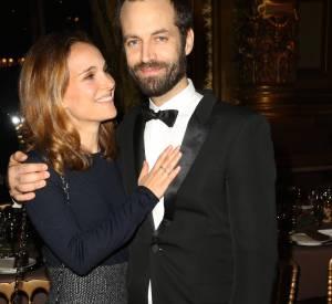 Natalie Portman et Benjamin Millepied, un couple complice aux quarante ans du Conseil Pasteur-Weizmann, ce lundi 12 janvier 2015.