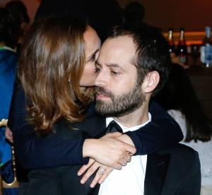 Moment tendresse pour Natalie Portman et Benjamin Millepied, ce lundi 12 janvier 2015 à l'Opéra Garnier.