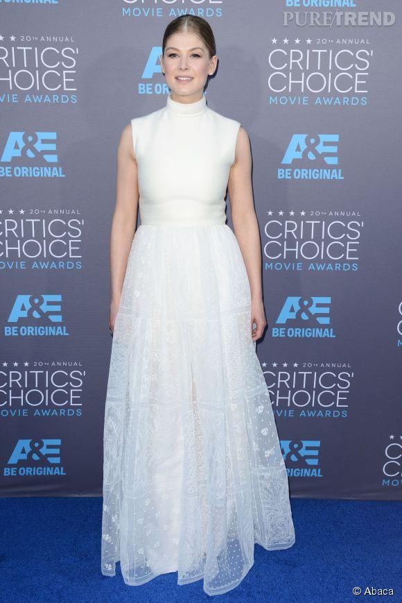 Rosamund Pike, reine des neiges aux Critics Choice Movie Awards 2015
