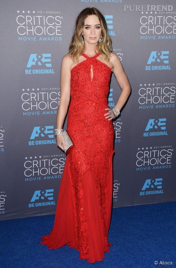 Emily Blunt, robe orientale aux Critics Choice Movie Awards 2015.