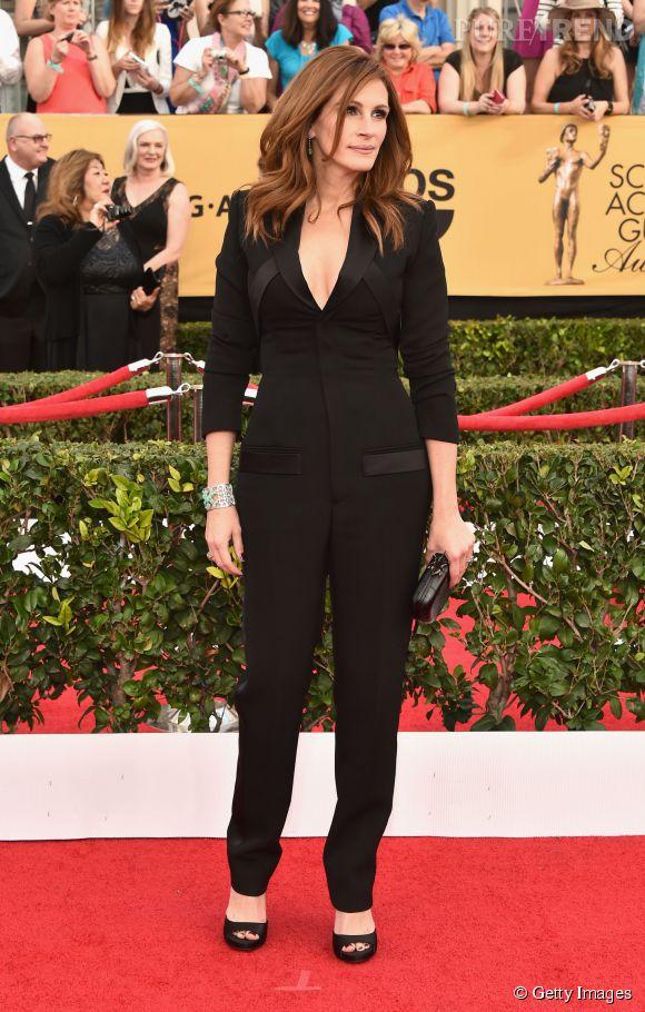 Julia Roberts en Givenchy lors des SAG Awards 2015 organisés à Los Angeles le 25 janvier 2015.