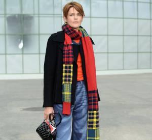Stella Tennant au défilé Chanel Haute Couture Printemps-Été 2015 à Paris le 27 janvier 2015.