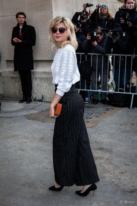 Cécile Cassel au défilé Chanel Haute Couture Printemps-Été 2015 à Paris le 27 janvier 2015.