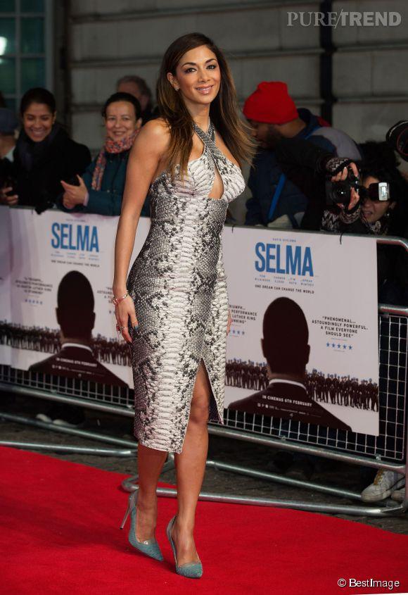 """Nicole Scherzinger à la première de """"Selma"""" le 27 janvier 2015 à Londres."""