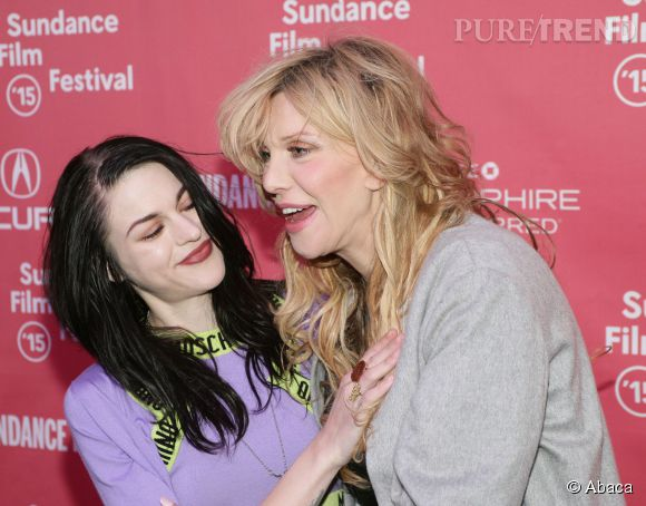 "Courtney Love et Frances Bean Cobain lors de la projection de ""Kurt Cobain: Montage Of Heck"" au Sundance Festival le 24 janvier 2015."