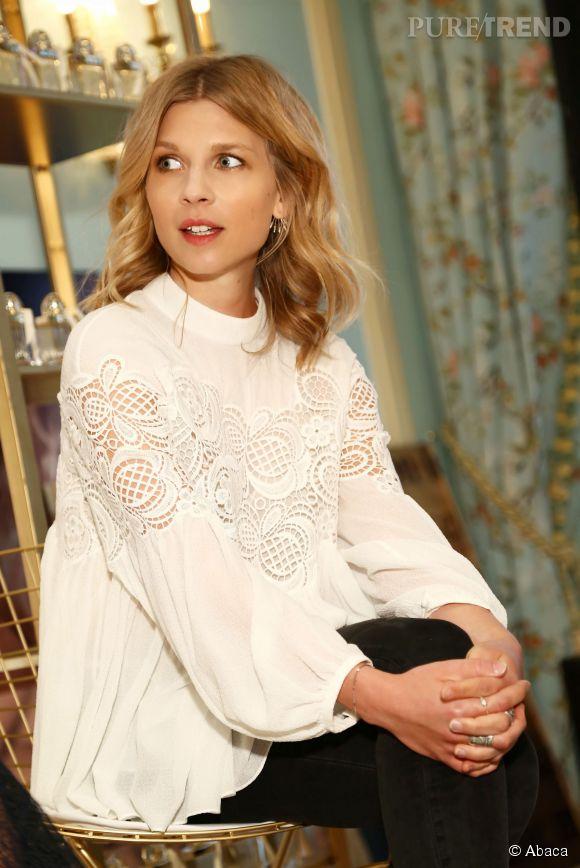 Clémence Poésy était présente au lancement du parfum Chloé Love Story dans un Ladurée de Soho à New York, le 10 fevrier 2015.