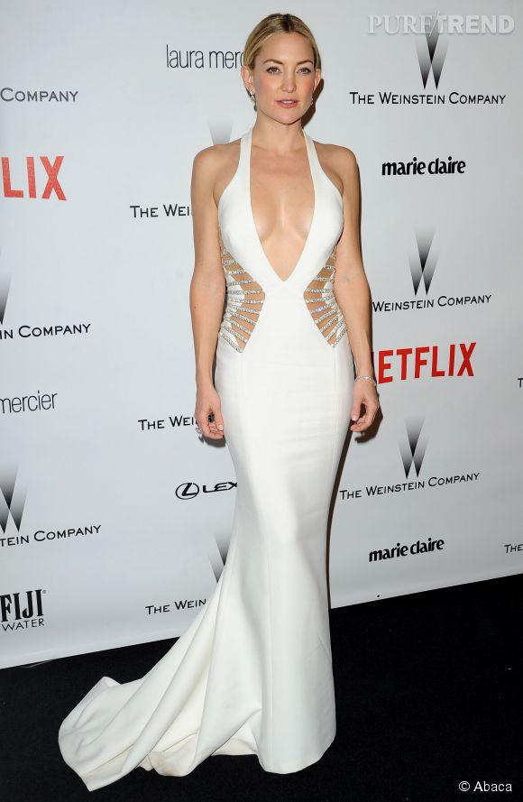 Dans sa robe moulante Versace, Kate Hudson a enflammé le photocall de l'after pary des Golden Globes 2015.