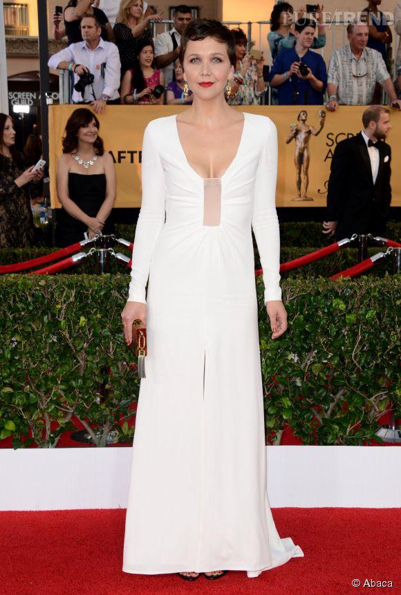 Maggie Gyllenhaal à la 21ème cérémonie des Screen Actors Guild Awards le 25 janvier 2015.