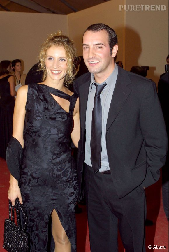 """Alexandra Lamy et Jean Dujardin se sont rencontrés sur le tournage de """"Un gars, une fille"""", diffusé sur  France 2  d'octobre 1999 à juin 2003."""