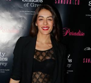 Sofia Essaïdi, sur le tapis rouge le soir de la Saint-Valentin.