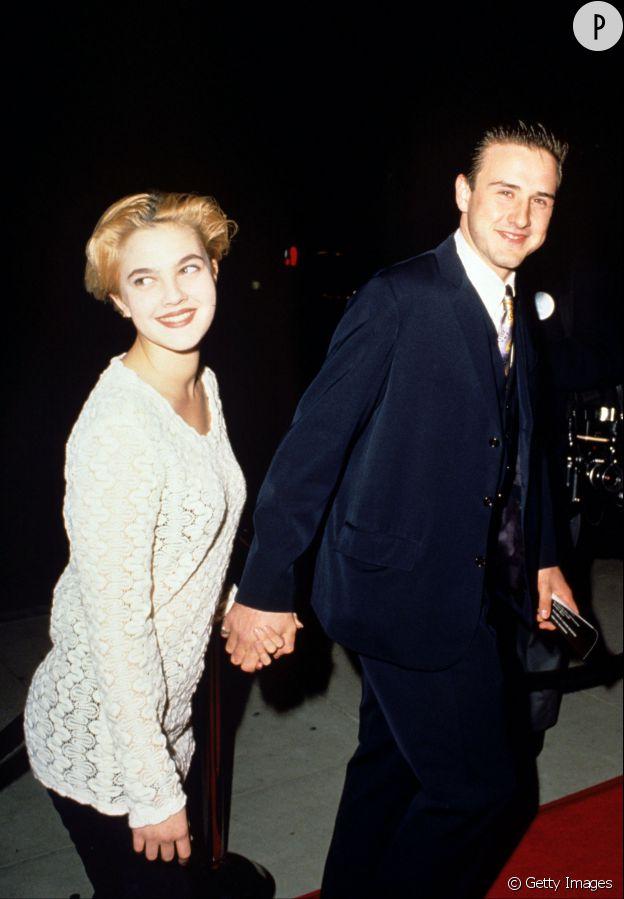 Drew Barrymore David Arquette en 1991.