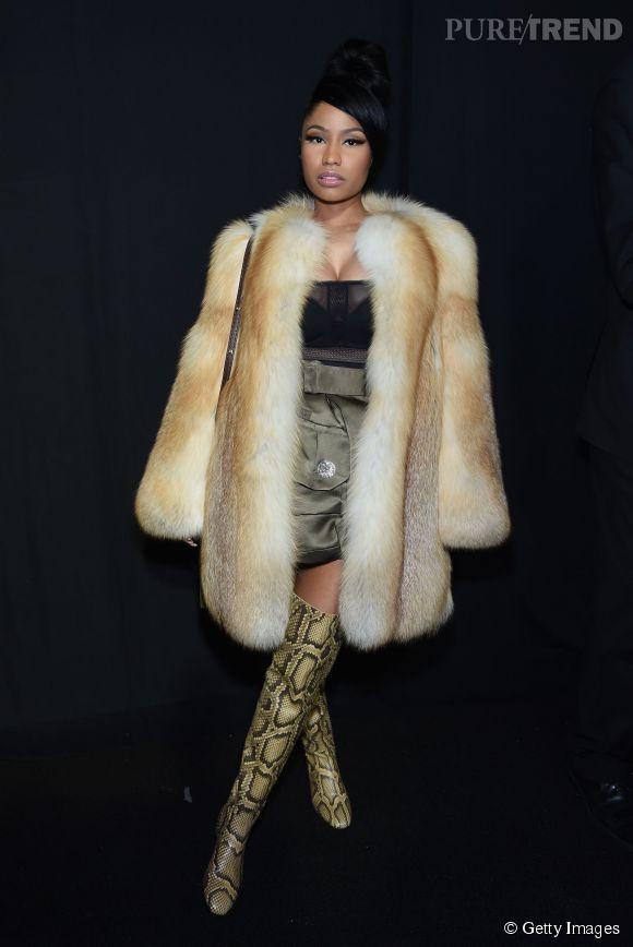 Nicki Minaj au défilé Marc Jacobs Automne-Hiver 2015/2016 le 19 février 2015 à New York.