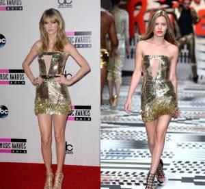 Georgia May Jagger vs Taylor Swift : sexy en minirobe dorée !