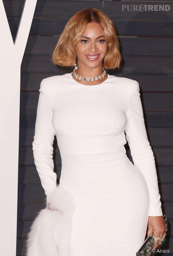 Beyoncé, bombesque à la soirée Vanity Fair des Oscars.