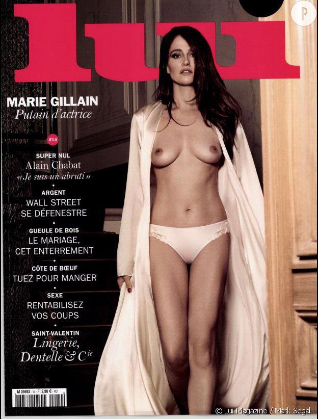 Marie Gillain pose topless en couverture du magazine masculin Lui.