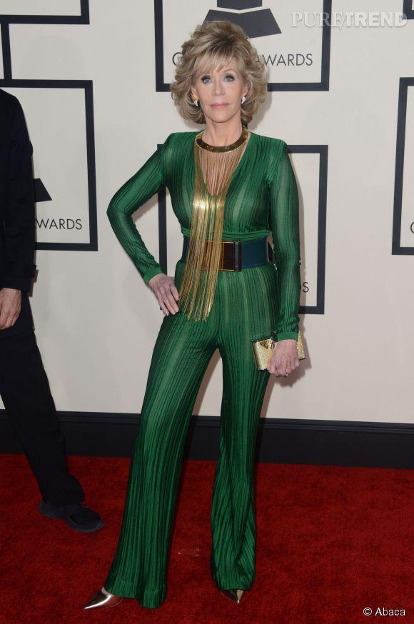 Jane Fonda en Balmain.