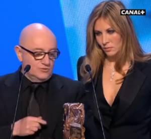 Mathilde Seigner et Michel Blanc lors de la cérémonie des César de 2012.