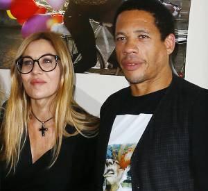 JoeyStarr et Mathilde Seigner lors au festival du film de Sarlat, en novembre 2012.