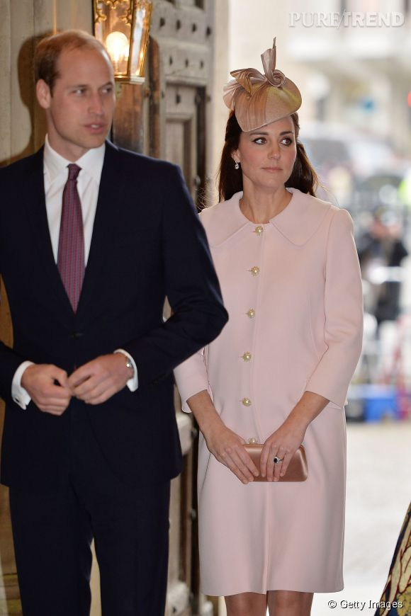 Le prince William et Kate Middleton célèbrent le Commonwealth Day à l'Abbaye de Westminster le 9 mars 2015 à Londres.