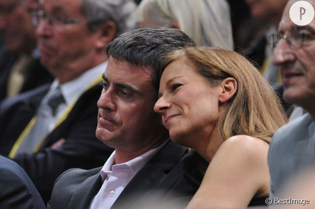 Manuel Valls et sa femme Anne Gravoin,