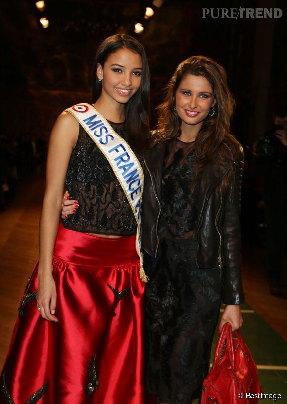 A la ville aussi, les Miss France sont copines. Flora Coquerel et Malika Ménard ne se voient pas que sur les tapis rouges.