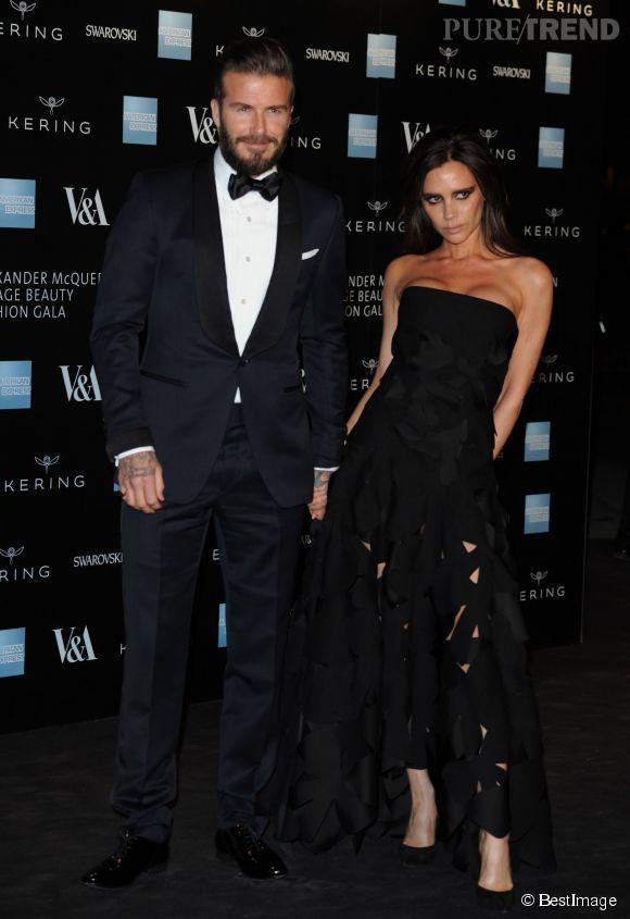 Victoria et David Beckham, couple glamour de la soirée