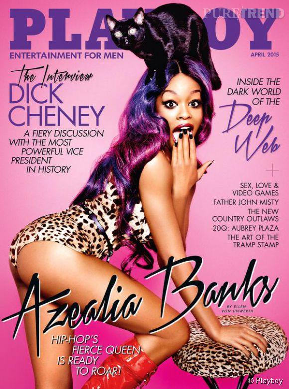 Azealia Banks photographiée par Ellen Von Unwerth pour Playboy, numéro d'avril 2015.