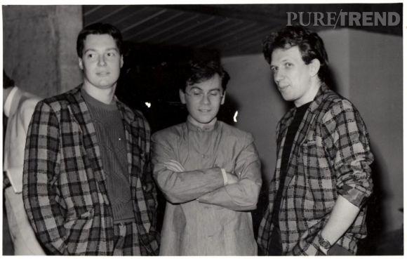 Francis Menuge à gauche de la photo, aux côtés de Jean-Jacques Picart et Jean Paul Gaultier.