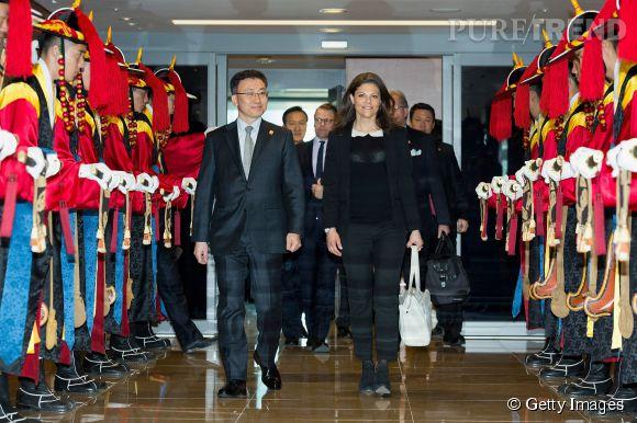 La princesse Victoria de Suède en visite officielle en Corée du Sud le 23 mars 2015.