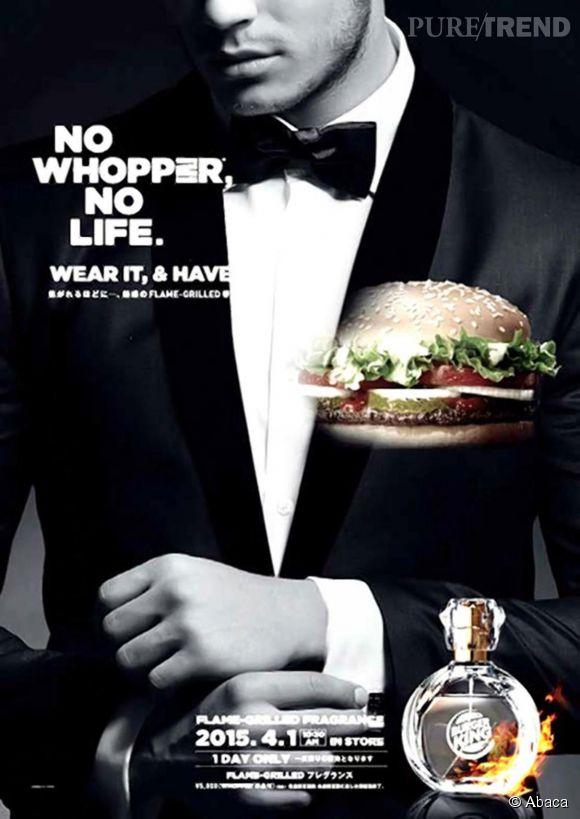 burger king le parfum qui sent bon le whopper un canular. Black Bedroom Furniture Sets. Home Design Ideas
