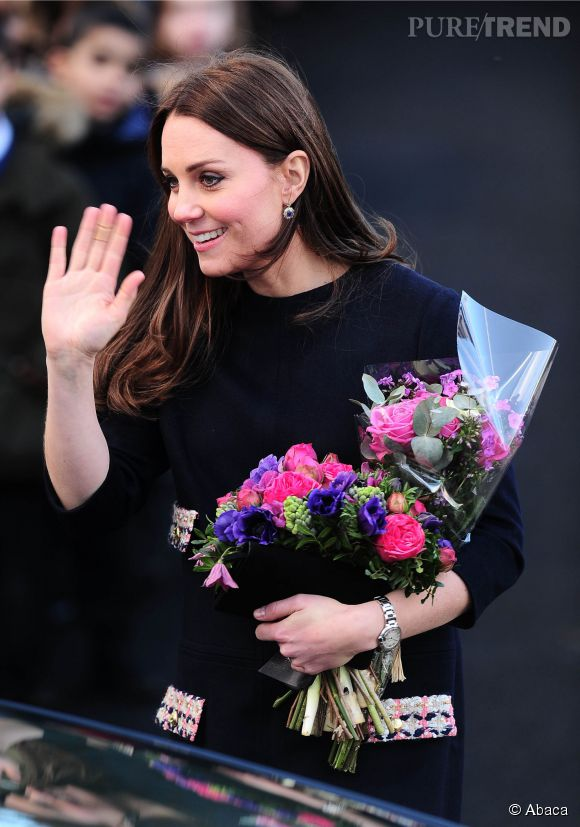 Kate Middleton devrait accoucher mi-avril 2015.