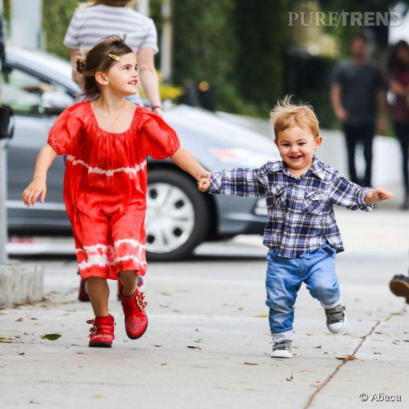 La fille d'Alessandra Ambrosio, Anja Mazur et ses bottines Chloé.
