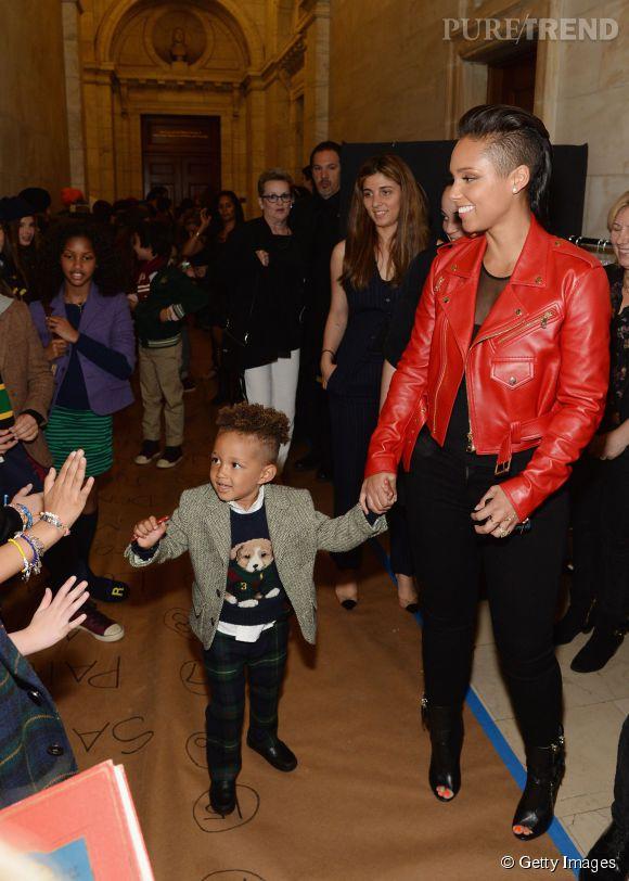 Egypt, le fils d'Alicia Keys en total look Ralph Laurent.