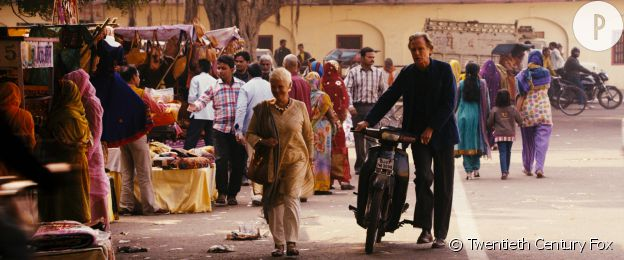 "Judi Dench et Bill Nighy dans ""Indian Palace - Suite royale""."