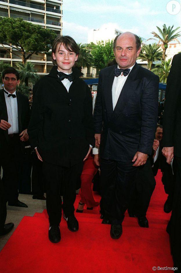 Sagamore Stévenin et son père Jean-François Stévenin au Festival de Cannes 1995.