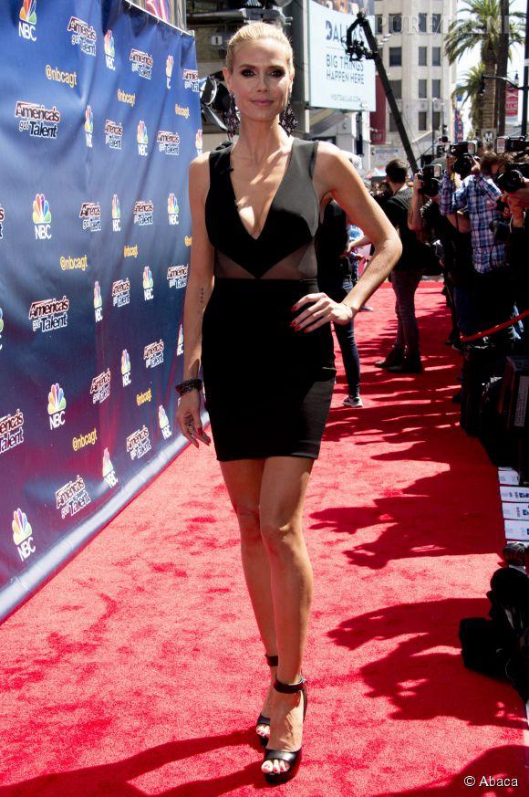 """Heidi Klum au lancement de la saison 10 de l'émission """"America's Got Talent"""" à Los Angeles le 8 avril 2015."""