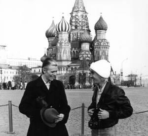 Iggy Pop et David Bowie vers 1977.