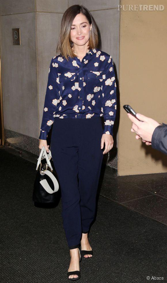 Rose Byrne dans un ravissante look à copier pour jouer les working girls bucoliques.