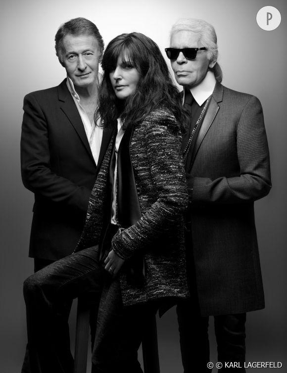 Le jury de ce Festival de Hyères 2015 : Éric Pfrunder, Virginie Viard et Karl Lagerfeld.