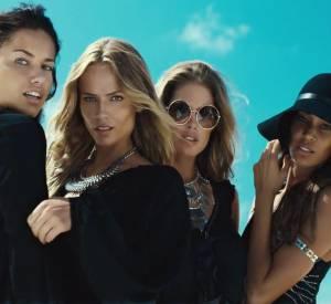 Campagne de l'Eté 2015 d'H&M avec Joan Smalls, Natasha Poly, Doutzen Kroes et Adriana Lima.