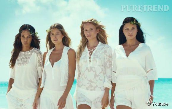 Campagne de l'Eté 2015 d'H&M avecJoan Smalls, Natasha Poly, Doutzen Kroes et Adriana Lima.