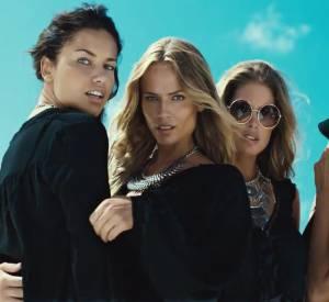 Joan Smalls, Natasha Poly, Doutzen Kroes et Adriana Lima, quatre bombes dans la nouvelle campagne de l'Eté 2015 d'H&M.
