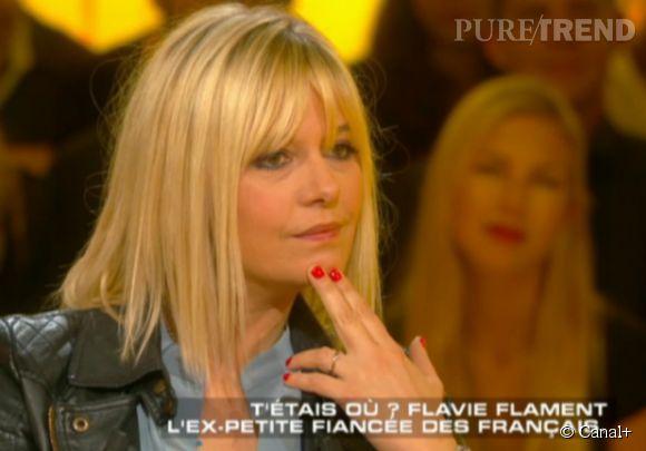 """Flavie Flament était invitée sur le plateau de """"Salut les terriens"""" ce samedi 2 mai 2015 sur Canal+, et à l'évocation de son mariage avec Benjamin Castaldi, le visage de l'ancienne animatrice s'est fermé."""