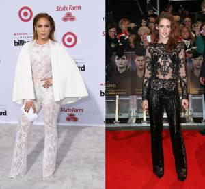 Jennifer Lopez vs Kristen Stewart : la combinaison dentelle sexy