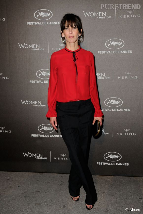 """Sophie Marceau à la soirée des """"Women in motion"""" ce dimanche 17 mai 2015, à Cannes."""