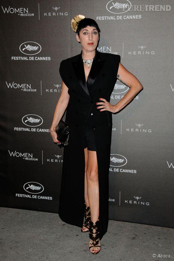 """Rossy de Palma à la soirée des """"Women in motion"""" ce dimanche 17 mai 2015, à Cannes."""
